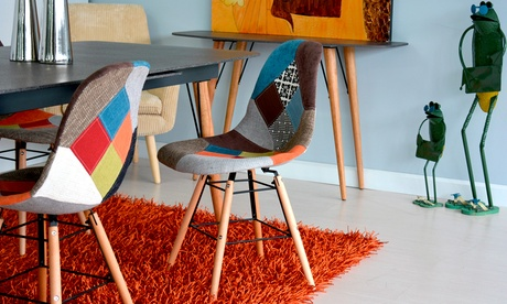 Set da 4 sedie in stile Patchwork
