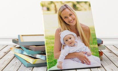 Personalised Canvas Print in Choice of Size from Photo Gifts (Up to 90% Off)