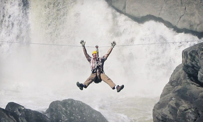 Zip Zag - Grand-Sault/grand Falls: Zipline Tour for One or Two Adults or Two Adults and Two Kids at Zip Zag (Up to 63% Off)