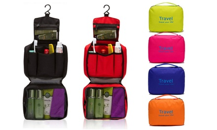 $14 Waterproof Folding Wash Bag, Available in Six Colours