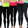 Two Toned Yoga Leggings (6-Pack)