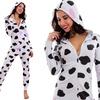 Tutina pigiama con stampa mucca