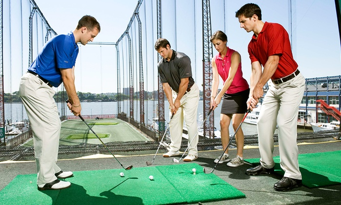 The Golf Club At Chelsea Piers- find under Sports Center - Chelsea Piers: Golf Instruction at Golf Club at Chelsea Piers (Up to 61% Off). Three Options Available.