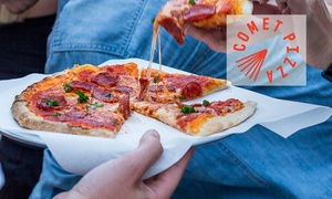 Comet Pizza: Three-Course Meal with Soft Drinks for Two ($29), Four ($55) or Six People ($79) at Comet Pizza (Up to $258 Value)