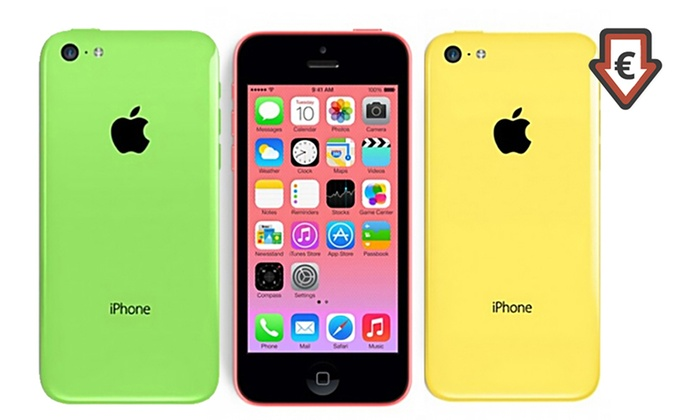 apple iphone 5c 16 ou 32 go reconditionn groupon. Black Bedroom Furniture Sets. Home Design Ideas