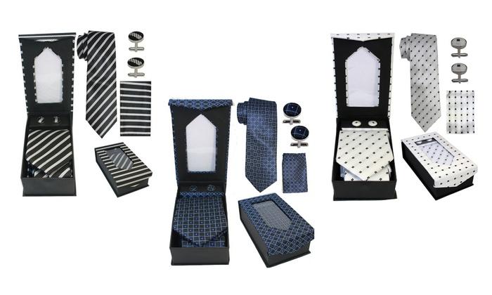 Men's Tie, Hanky, and Cufflink Gift Box