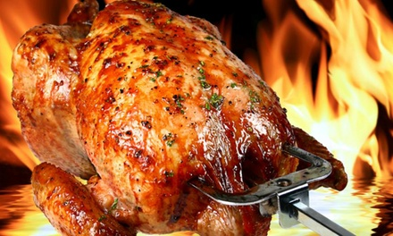 Un pollo asado con ración de patatas fritas desde 3,95 € en Asador Pollo Rico