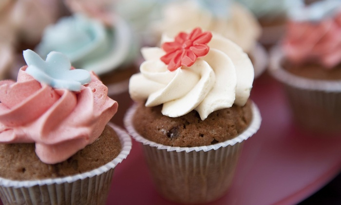 Cupcakes On Centre - Newton Center: Two Dozen Assorted Gluten Free and Nut Free Mini Cupcakes at cupcakes on centreLLC (43% Off)