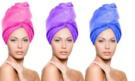 1, 3 o 6 toallas de microfibra para el cabello desde 6,98 € (hasta 68% de descuento) Oferta en Groupon