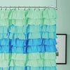Dainty Home Ruffled Fabric Shower Curtain