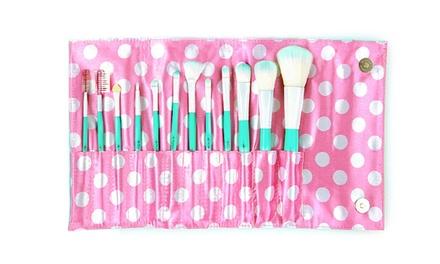 Beauté Basics 12-Piece Vintage Makeup Brush Set