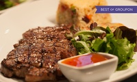 Two-Course Steak and Seafood Meal with Hot Drinks for Two or Four at 1573 Bar & Grill (Up to 53% Off)