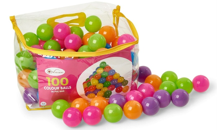 Up to 400 Colourful Soft Plastic Pit Balls