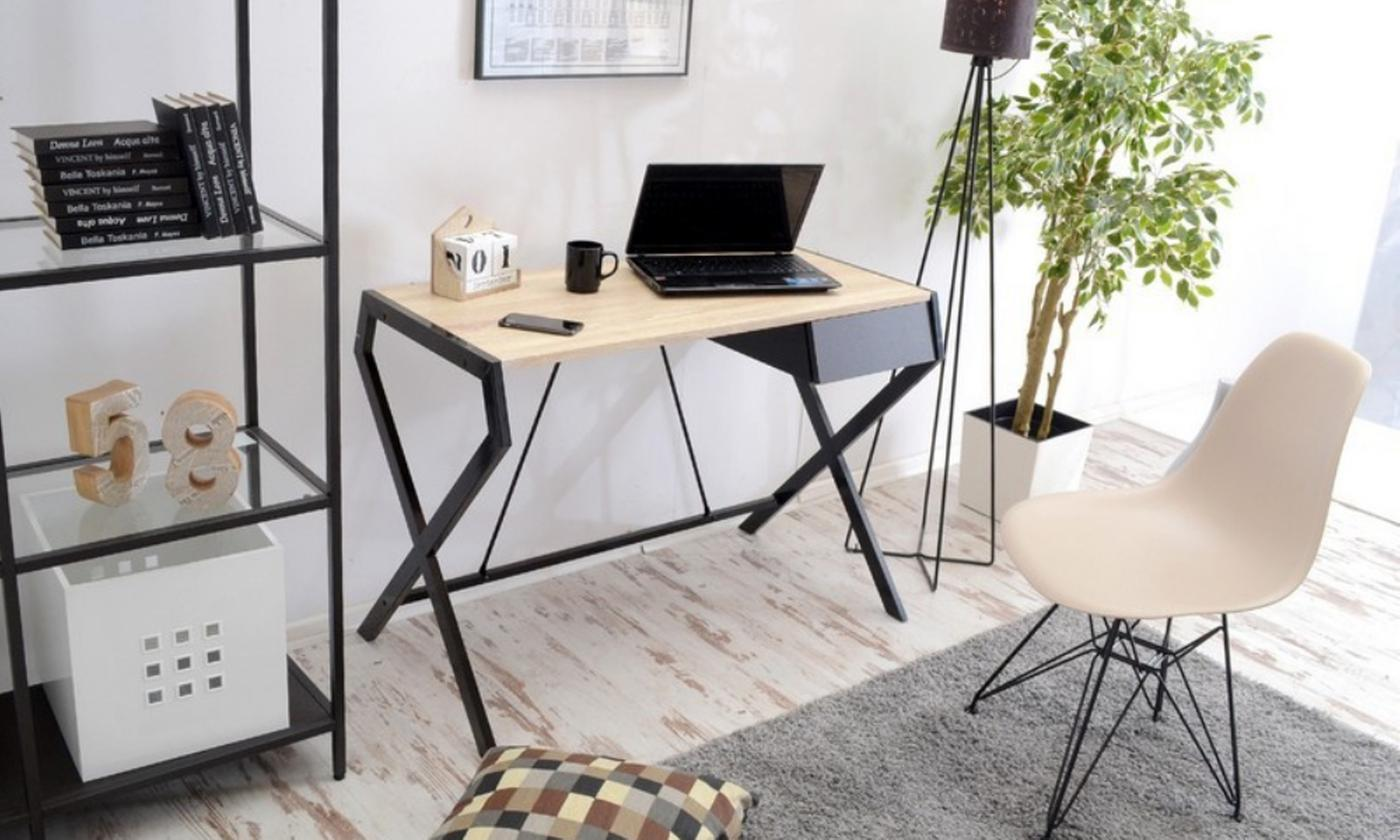 Selsey Scandinavian-Style Desk with Drawer in Choice of Colour (£76.99)