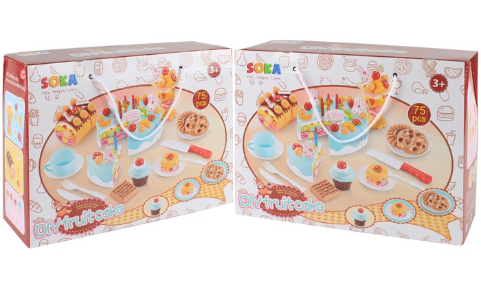 Enjoyable Birthday Cake Pretend Play Set Groupon Personalised Birthday Cards Veneteletsinfo