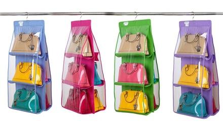 Organizer per contenere fino a 12 borse con gancio disponibile in 4 colori