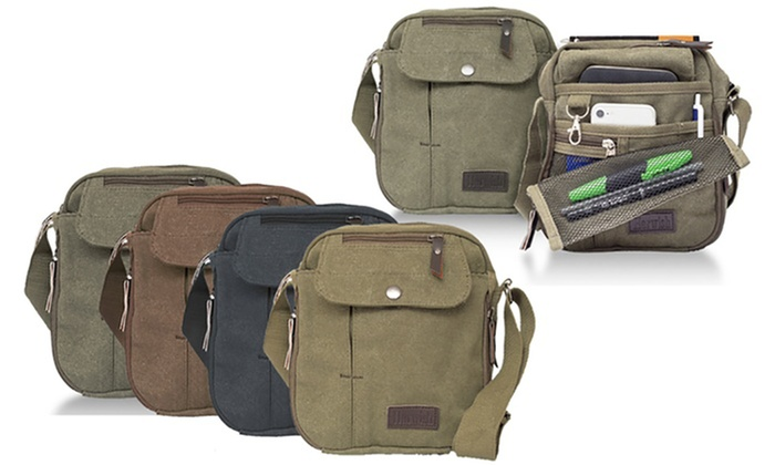 Ever Mercantile Limited: Multifunctional Unisex Canvas Cross-Body Travel Bag: One ($19.95) or Two ($29.95)