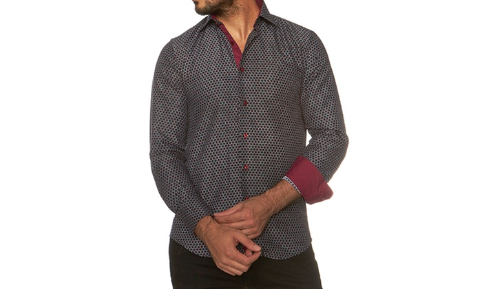 Azaro Uomo Men's Slim Fit Button Down Shirts (Sizes L & XXL)