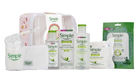 One, Two or Three Simple Skin Pamper Basket Gift Sets