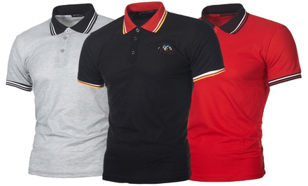 Mens Plain or Sports Tipped Polo