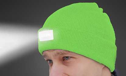 9dcb4e885abfe Shop Groupon LED Unisex Headlamp Beanies (2-Pack)
