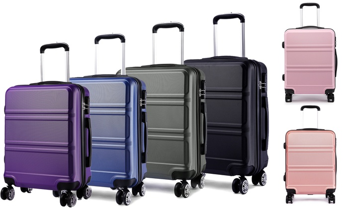 Kono Hard Shell Cabin-Size ABS Luggage Suitcase