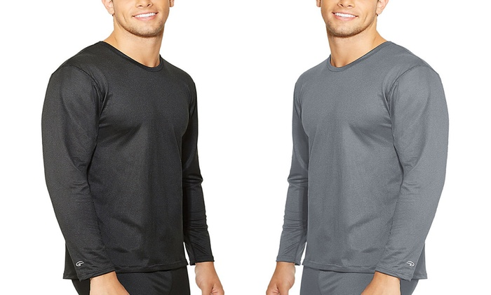 Duofold by Champion Men's Mid-Weight Varitherm Crew-Neck Thermal Shirt