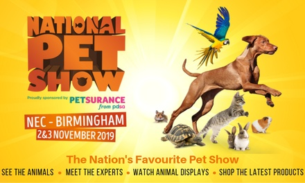 National Pet Show, 2–3 November at The NEC, Birmingham