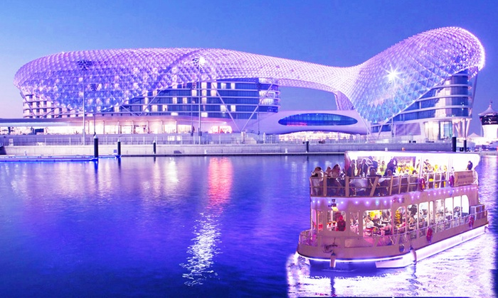 Desert Rangers - Abu Dhabi: Yas Marina Glass Boat Dinner Cruise for Up to Six with Desert Rangers (Up to 31% Off)