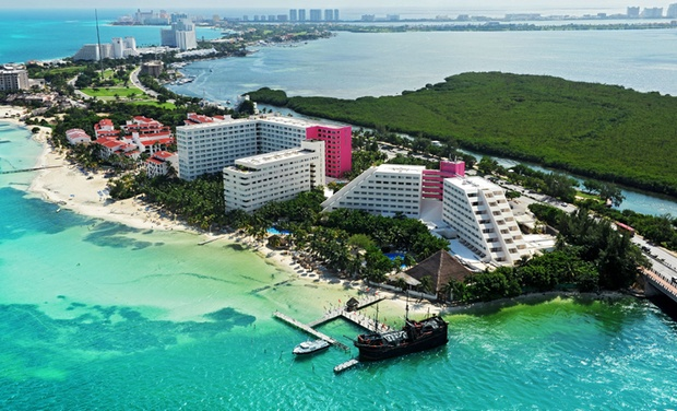 TripAlertz wants you to check out ✈ 3-, 4-, 5-, 6-, or 7-Night Oasis Palm Stay w/ Air. Price per Person Based on Double Occupancy (Buy 1 Groupon/Adult). ✈ All-Inclusive Cancún Vacation with Airfare from Vacation Express  - All-Inclusive Cancún Vacation