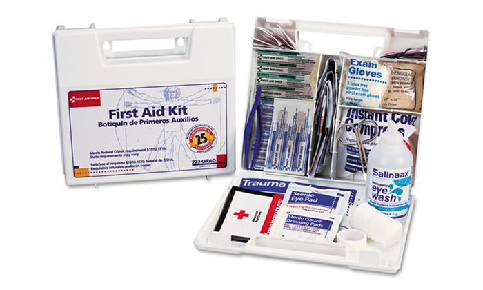106-Piece First-Aid Kit: 106-Piece OSHA-Compliant First-Aid Kit for 25 People