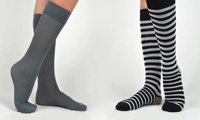 Adrienne Vittadini Socks: Four or Six Pairs of Adrienne Vittadini Socks (Up to 70% Off). Three Options Available.