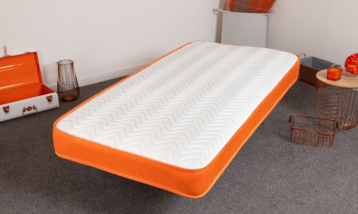 Orange Wavy Bonnell Spring Memory Foam Mattress