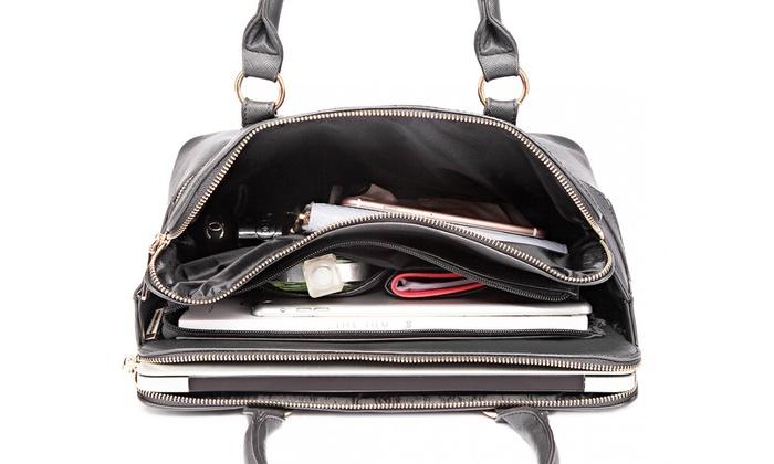 Multi Compartment Handbag