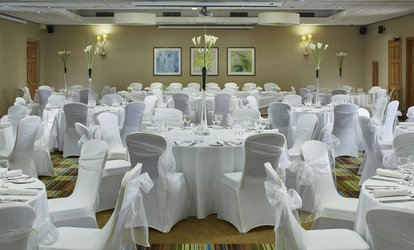 image for Wedding Package for 50 or 100 Day and Evening Guests with Evening Buffet at Manchester Marriott Victoria & Albert Hotel