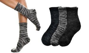 Marled Wool-Blend Crew Socks for Men and Women (3-Pack)