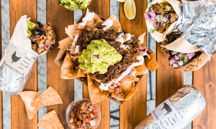 Burrito, Tortilla Chips and Salsa for One ($10) or Two People ($20) at Burrito Shack (Up to $32 Value)