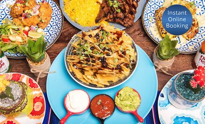 Six-Dish Mexican Feast with Sangria for Two ($49) or Four People ($98) at Blue Cactus Mexican Diner (Up to $230 Value)