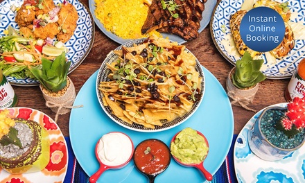 Three-Course Set Menu + Drinks for Two ($39) or Four People ($75) at Blue Cactus Mexican Diner (Up to $194 Value)