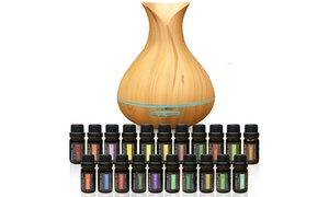 Pure Daily Care Aromatherapy Ultrasonic Diffuser with Essential Oils