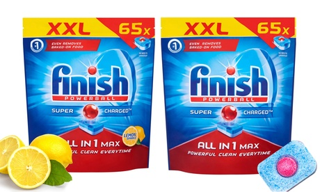 Fino a 520 capsule di Finish Powerball All in One disponibili in 2 tipologie