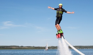 Canadian Jetpack Adventures: Flyboarding Experience from Canadian Jetpack Adventures- MB (Up to 45% Off). Six Options Available.