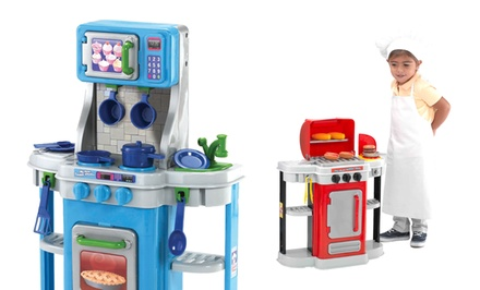 Amloid 2-in-1 My First Kitchen and BBQ Play Sets. Free Returns.