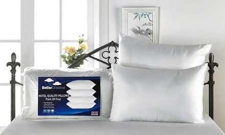 Better Dreams Four Hotel-Quality Non-Allergenic Fibre-Filled Pillows for £10