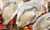 スカイツリー駅・押上駅/焼き牡蠣食べ放題100分プラン(牡蠣フライ3個・ミニ牡蠣めし付)