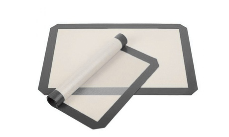 2 o 4 tappetini da cottura antiderenti realizzati in silicone