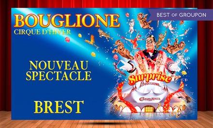 1 place pour adulte ou enfant catégorie et date au choix pour la Tournée 2017 du cirque d'hiver Bouglione dès 10 €
