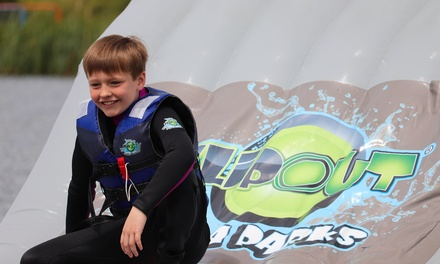 OneHour Aqua Park Entry with Wetsuit Hire for One, Two, Four, Six or 12 at Flipout Aqua Park