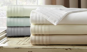 Special Price: 1,000tc Egyptian Cotton Rich Sheet Set With Pleated Hem