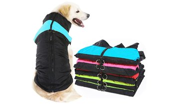 Water Resistant Zip-up Dog Coat